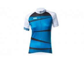Dámský cyklistický dres KTM Factory Lady White (blue)