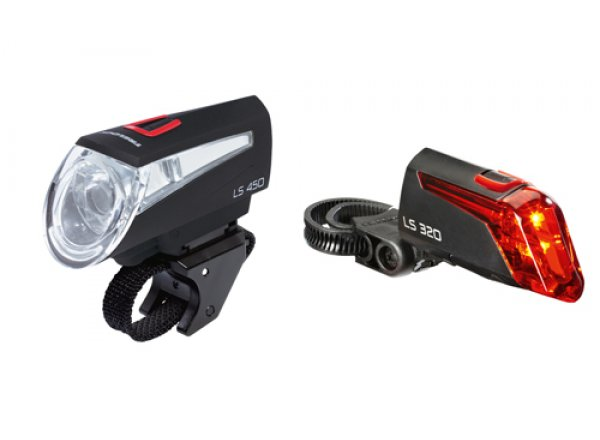 Sada světel KTM Trelock Booster LS450/320 Black