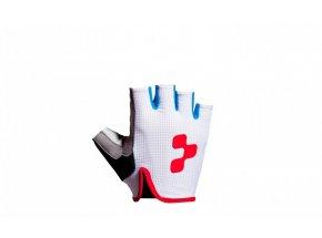 Rukavice Cube Race short finger white/black/red/blue