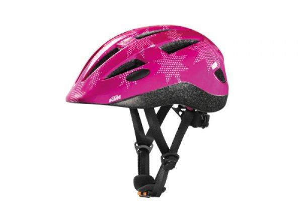 Dětská helma na kolo KTM Factory Kids Pink stars