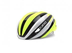 Cyklistická helma Giro Synthe White/highligth yellow