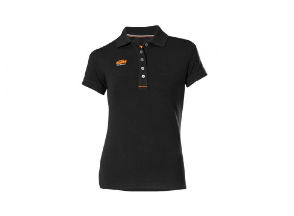Dámské tričko KTM Factory Lady Team Polo Black (orange)