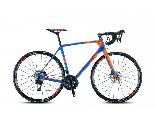 Silniční kolo KTM REVELATOR SKY BLUE Petrolblue/orange