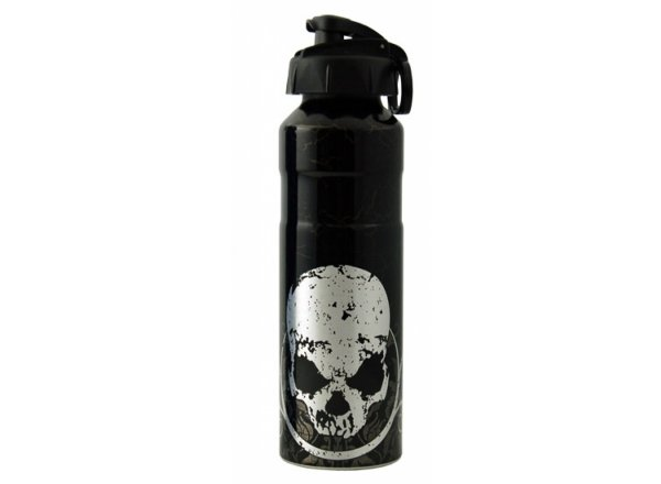 Alu láhev Cool Gear Black Skull