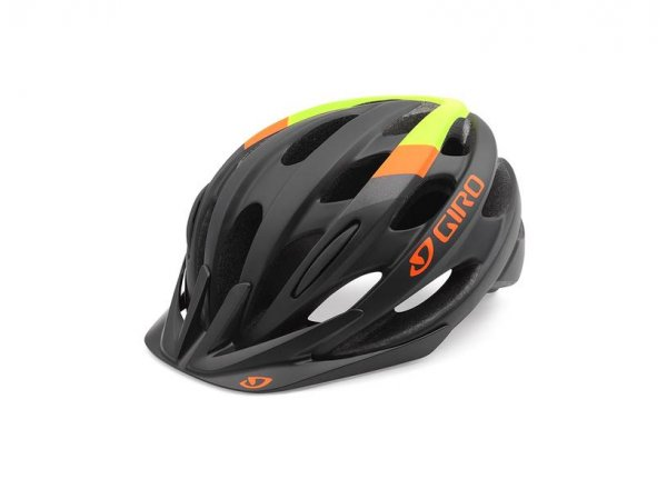 Cyklistická helma GIRO REVEL Matt black/lime/flame