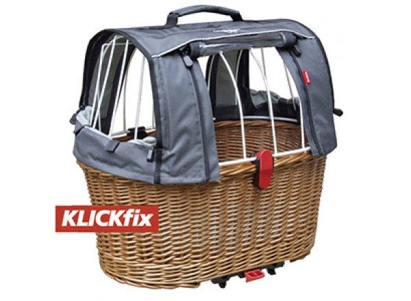 Koš na nosič pro převoz psů Klickfix Doggy Basket Racktime Grey