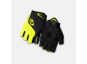 Cyklistické rukavice Giro Bravo Black/highlight yellow