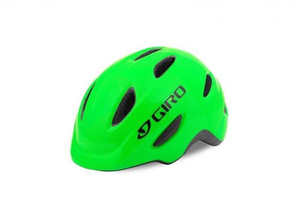 Dětská helma na kolo Giro Scamp Green/lime lines