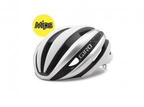 Cyklistická helma Giro Synthe MIPS White/silver