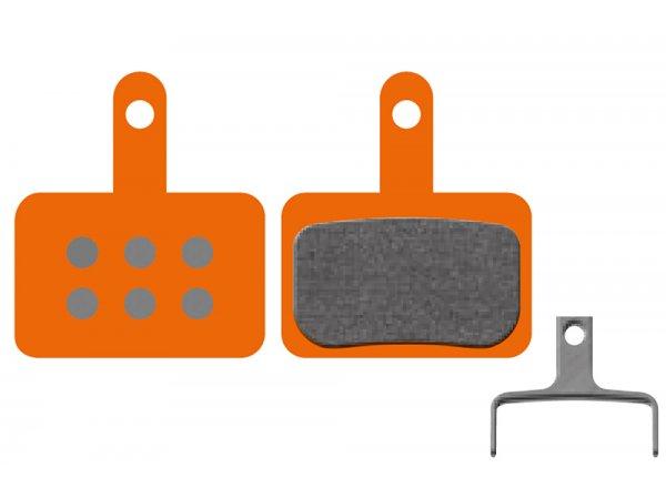 Destičky KTM pro Shimano Deore C601, M414, M445, M446, M485, M486, M515, M525, M575 (1 pár) Orange