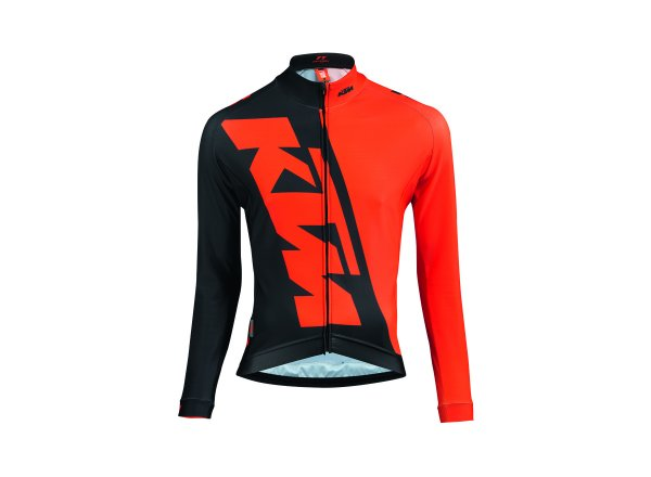 Cyklistický dres KTM Factory Team Race Winter Orange/black
