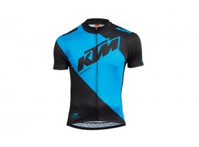 Cyklistický dres KTM Factory Line Black/blue