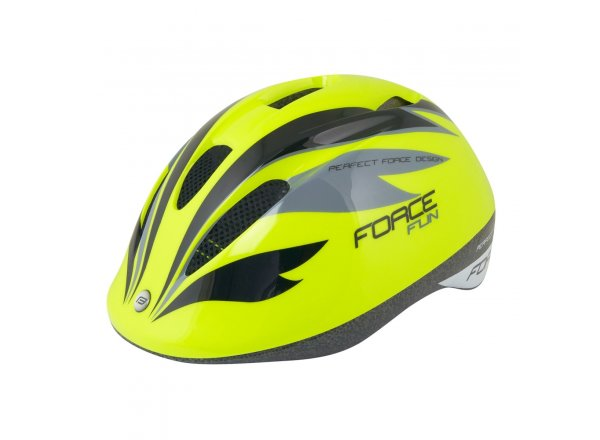 Dětská helma na kolo Force Fun Stripes Fluo/black/grey
