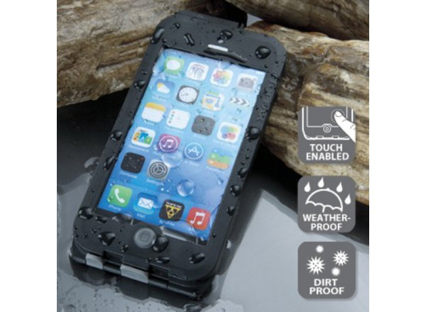 TOPEAK Weatherproof RideCase pro iPhone 5 + SE černá/šedá Black