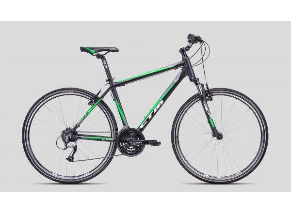 Krosové kolo CTM Tranz 1.0 Black/green