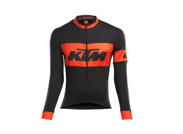 Cyklistický dres KTM FACTORY TEAM RACE All Season Black/orange