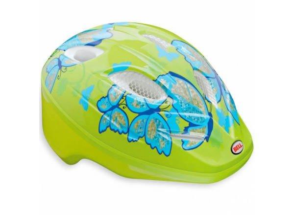 Dětská helma na kolo BELL Splash green/butterflies