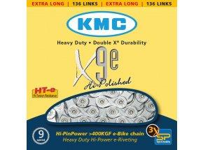 Řetěz pro elektrokola KMC X-9-E  9 speed Silver