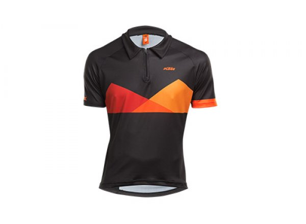 Cyklistický dres KTM FACTORY CHARACTER POLO Black/orange