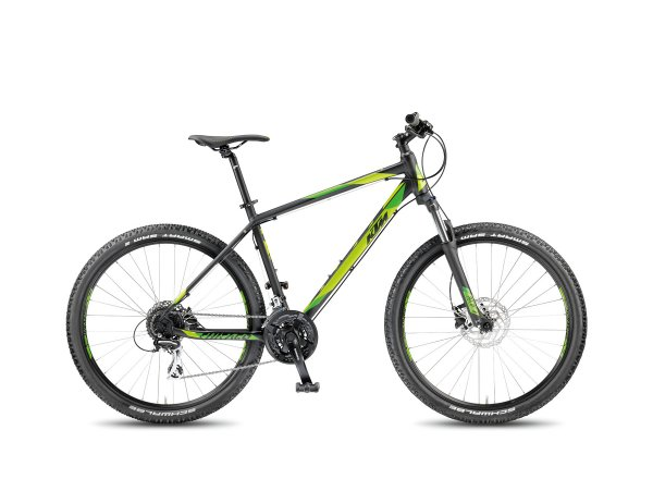 Horské kolo KTM Chicago 27.24 DISC H 2018 Black matt/green