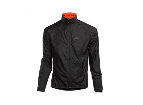 Cyklistická bunda KTM Factory Line Windbreaker Black