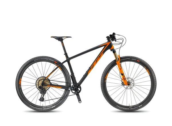 Horské kolo KTM MYROON 29 SONIC 12 2018 Black-matt/orange glossy/TOPO