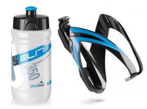 Dětská láhev s košíkem Elite Kit Ceo 350ml Bluegraphic