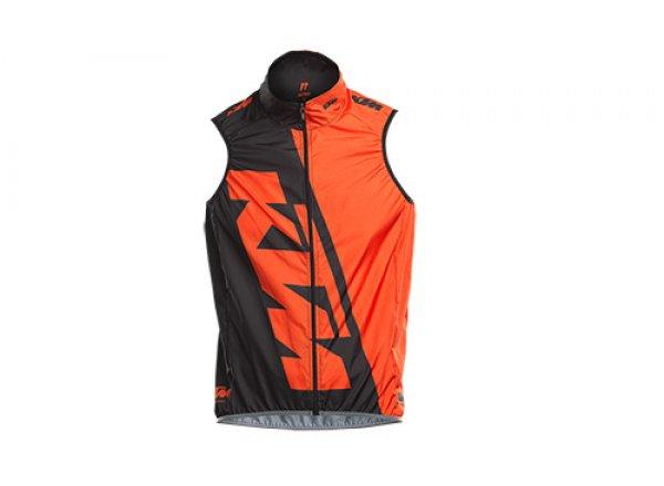 Cyklistická vesta KTM FACTORY TEAM RACE Black/orange