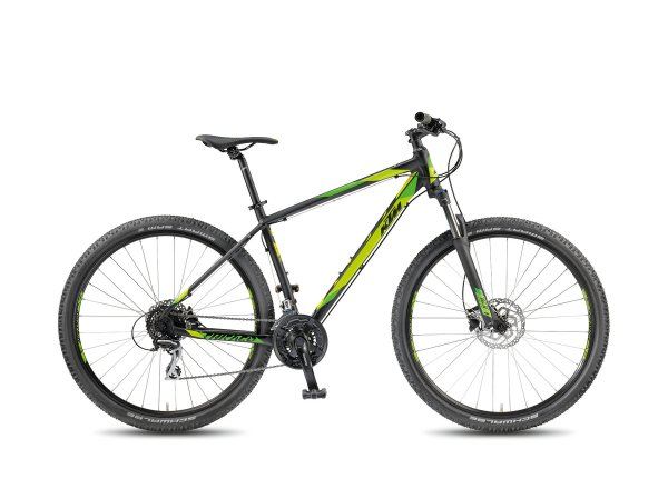 Horské kolo KTM Chicago 29.24 DISC H 2018 Black matt/green