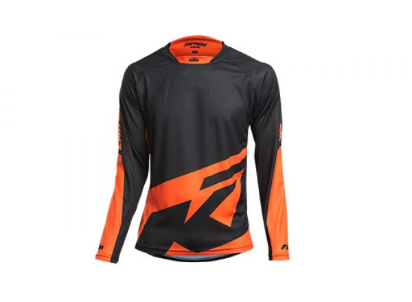 Cyklistický dres KTM Factory ENDURO long Black/orange