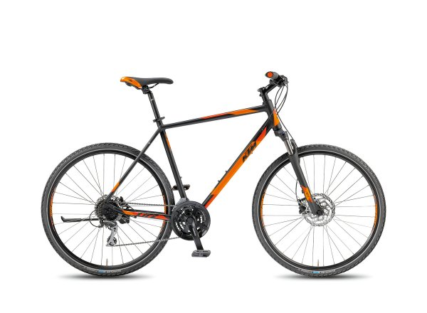 Krosové kolo KTM Life Track 24 DISC 2018 Black matt/orange