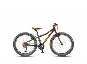 Dětské kolo KTM Wild Speed 24.9 Light 2018 Black matt/orange
