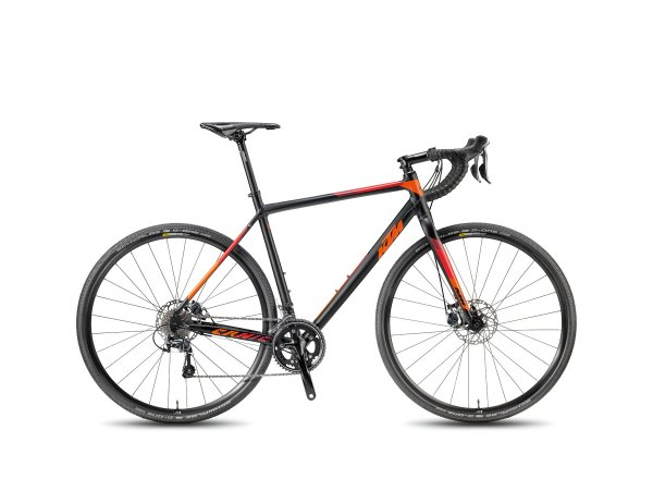 Cyklokrosové kolo KTM CANIC CXA 2018 Black-matt/orange/darkred