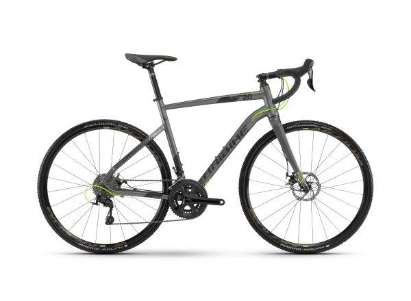 Cyklokrosové kolo Haibike SEET Alltrack 2.0 2018 titanová/černá/lime matná