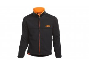 Fleecová bunda/mikina KTM Factory Team Work Jacket Black/orange