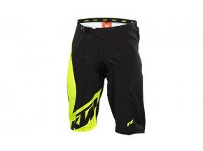 Cyklistické kraťasy KTM FACTORY ENDURO SHORT volné black/yellow