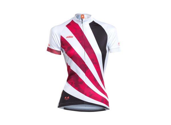 Dámský cyklistický dres KTM LADY LINE JERSEY White/black/pink