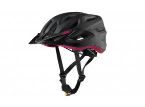 Dámská cyklistická přilba KTM LADY CHARACTER HELMET black/berry/camouflage