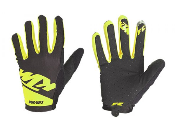 Cyklistické rukavice KTM FACTORY ENDURO GLOVES LIGHT LONG Black/yellow