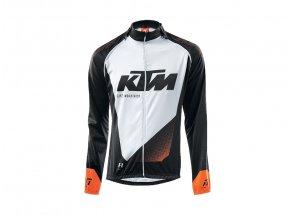 Cyklistická bunda/dres krátký rukáv KTM Factory Line 2v1 black (orange+white)
