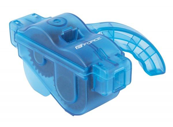 Pračka řetězů FORCE plastová s rukojetí Blue