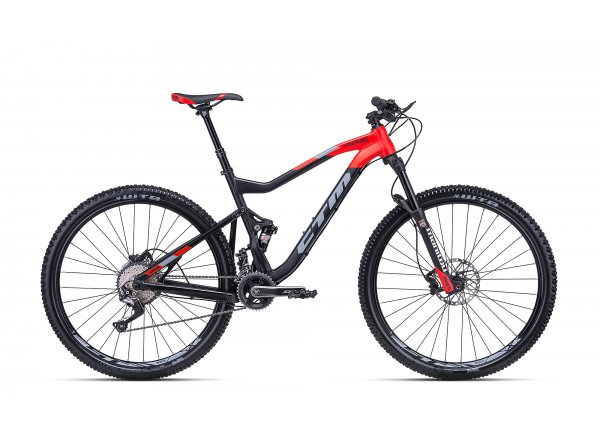 Celoodpružené kolo CTM RIDGE Xpert 27,5 2018 Black/red