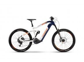 Elektrokolo Haibike XDURO Nduro 5.0 i630Wh FLYON 2020 Modrá/bílá/oranžová