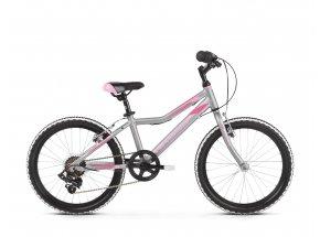 Dětské kolo KROSS Lea Mini 1.0 20 2019 silver / pink matte