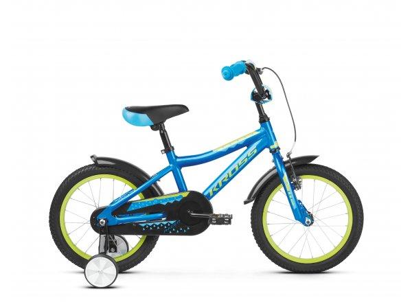 Dětské kolo KROSS Racer 4.0 16 2019 blue / lime glossy