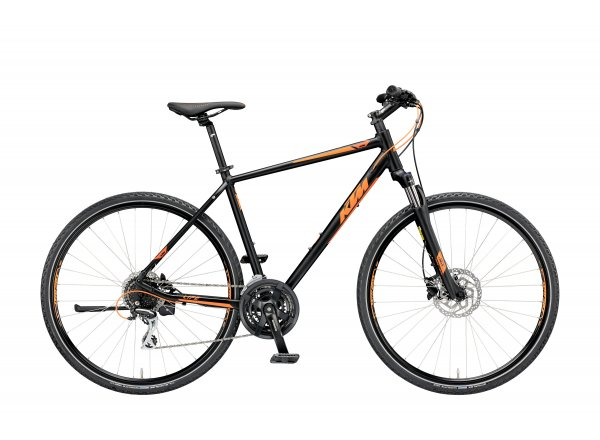 Krosové kolo KTM Life Track 2019 black matt (orange)
