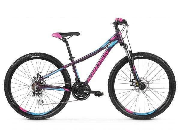 Dámské horské kolo KROSS Lea 4.0 26 2019 violet / pink / blue glossy