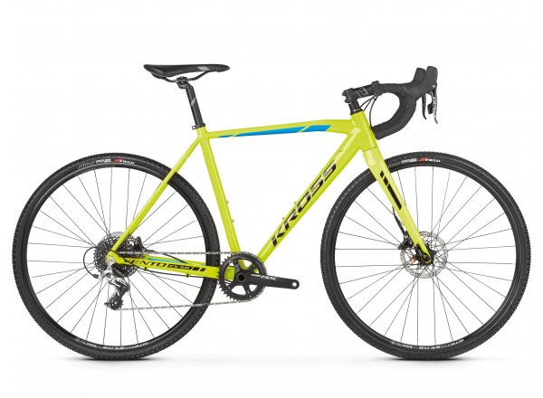 Cyklokrosové kolo KROSS Vento CX 4.0 2019 yellow / blue / black glossy