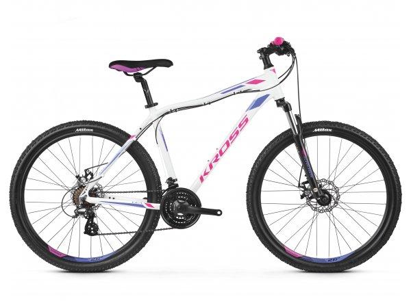 Dámské horské kolo KROSS Lea 3.0 26 2019 white / pink / violet glossy