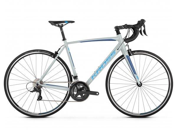 Dámské silniční kolo KROSS Vento 3.0 2019 gray / navy blue / blue glossy